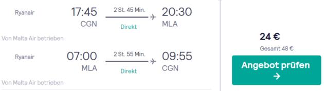 4 Tage Malta Flug