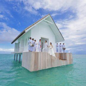 Romantischer Luxusurlaub: 9 Tage Malediven im TOP 5* Hotel inkl. Halbpension, Flug, Transfer & Zug für 6.732€