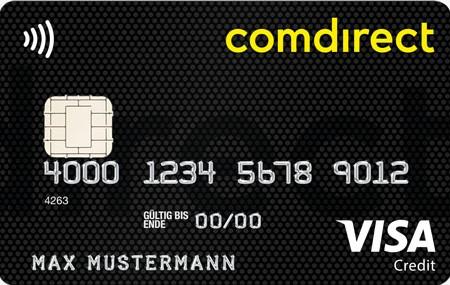 VISA Karte comdirect