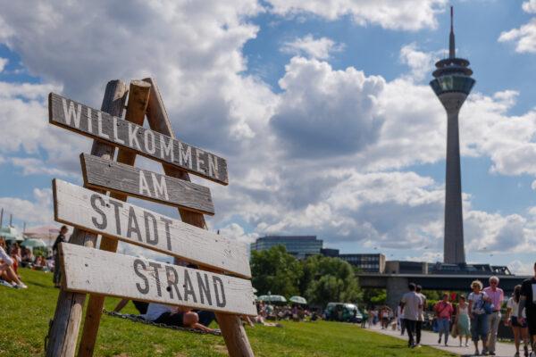 Deutschland Düsseldorf Stadtstrand