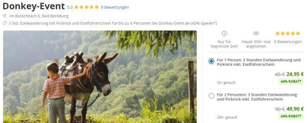 Eselwanderung Rothaargebirge