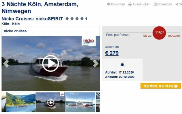 Kreuzfahrt Holland