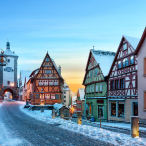 Rothenburg ob de Tauber im Winter