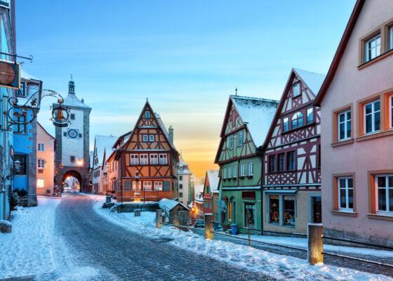 Rothenburg ob de Tauber im Winter