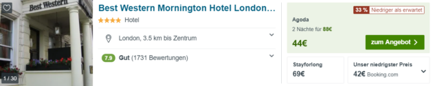 3 Tage London Hotel