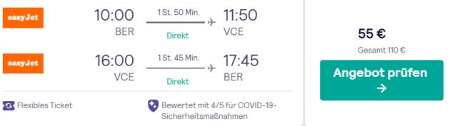 3 Tage Venedig Flug