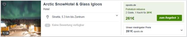 Finnland Glas Iglu