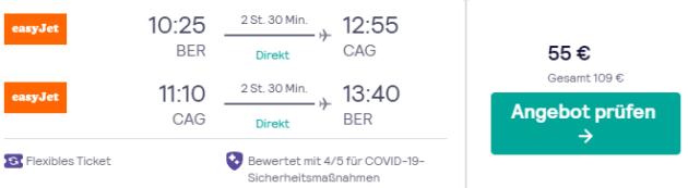 Flug Berlin Cagliari
