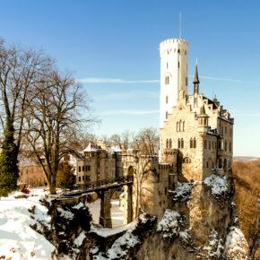 Winterliches Schloss Lichtenstein am Wochenende: 2 Tage mit 3* Hotel & Frühstück für 38€