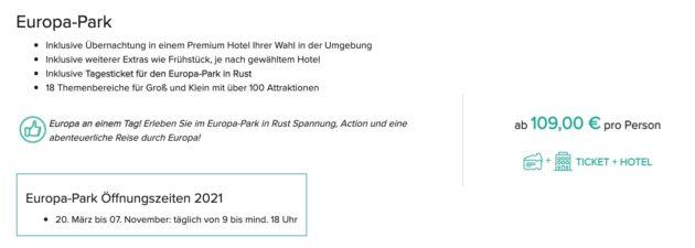 2 Tage Europa Park Hotel