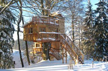 Übernachten in den Bäumen: 3 Tage im Allgäu ins Baumhaushotel inkl. Frühstück ab 108€