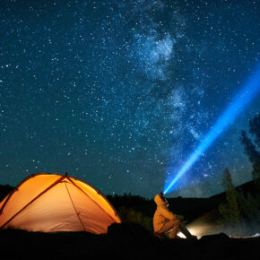 Camping Zelt Sterne Taschenlampe