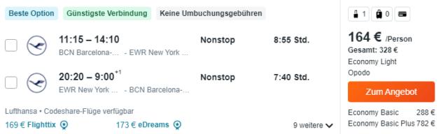 NYC Flüge
