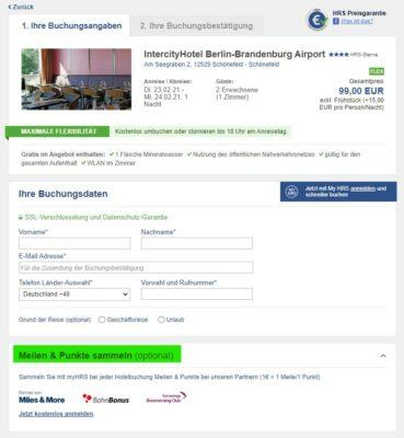 HRS Gutschein Bonusprogramm