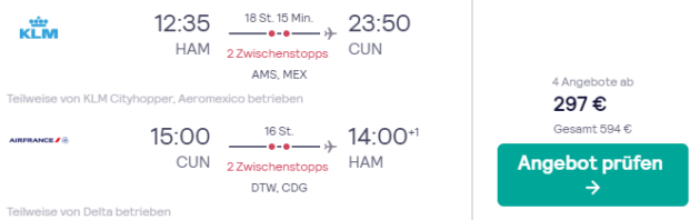 Mexiko Flug