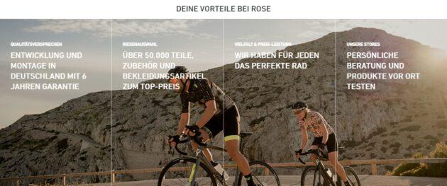 Rose Bikes Vorteile