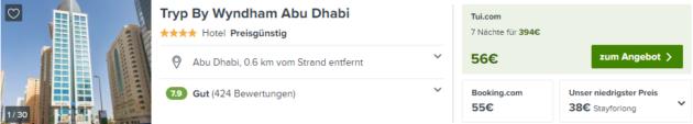Abu Dhabi Angebot