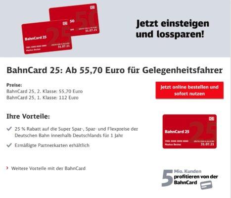 BahnCard 25 Aktion