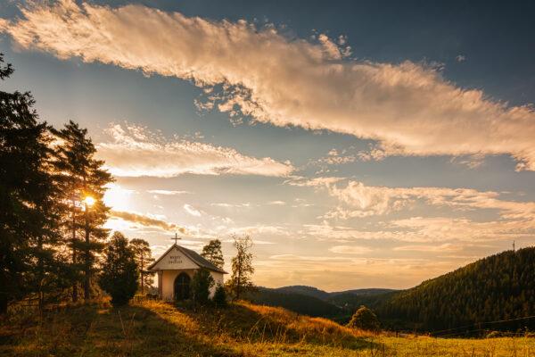 Erzgebirge Sonnenuntergang