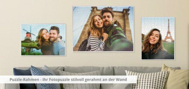 Puzzle an der Wand Paar