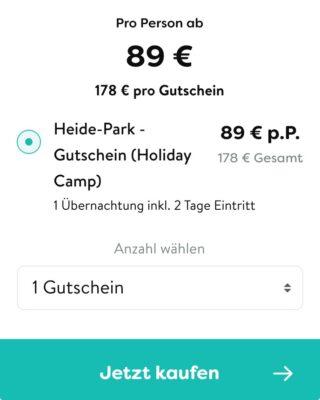 2 Tage Heide Park Gutschein