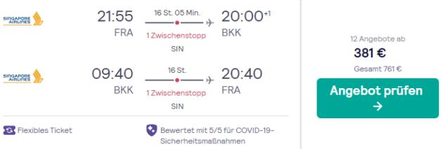 Flug Frankfurt Bangkok