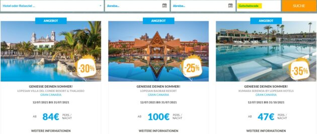 Lopesan Hotels Gutscheincode