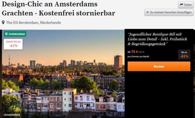 Screeenshot 2 Tage Amsterdam