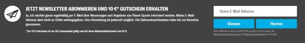 Planet Sports Newsletter