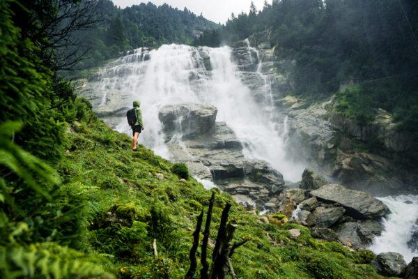 Österreich Stubai Grawa Wasserfall 1