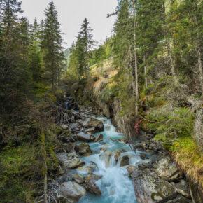 Österreich Stubai Grawa Wasserfall 2