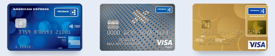 Payback Kreditkarten Übersicht