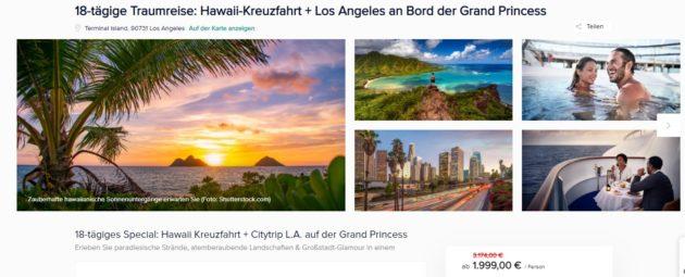 18 Tage Hawaii Kreuzfahrt