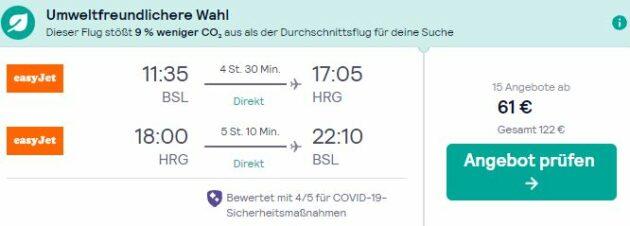 Basel nach Hurghada