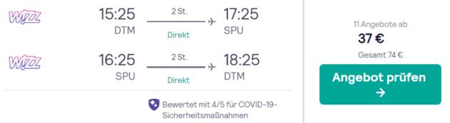 Flug Dortmund Split
