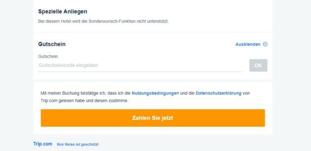 Trip.com Gutschein einlösen