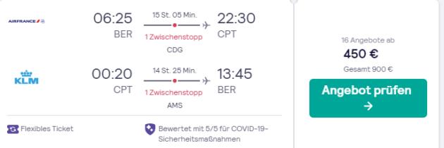 Screenshot 7 Tage Flug Kapstadt