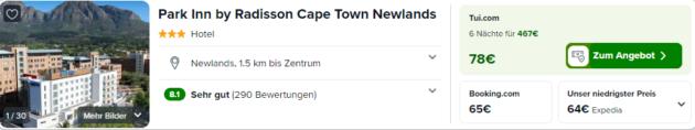 Screenshot 7 Tage Unterkunft Kapstadt