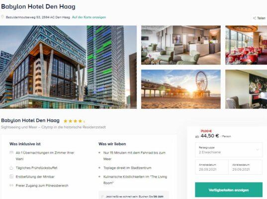 Screenshot Den Haag Hotel