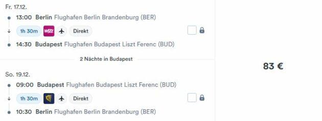 3 Tage Budapest Flug
