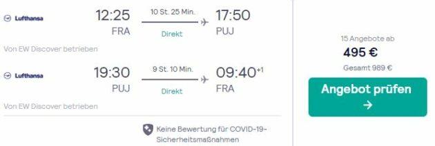 Screenshot Flug Dom Rep