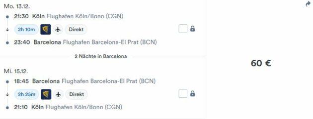 3 Tage Barcelona Flug