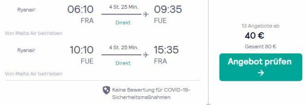 8 Tage Fuerteventura Flug