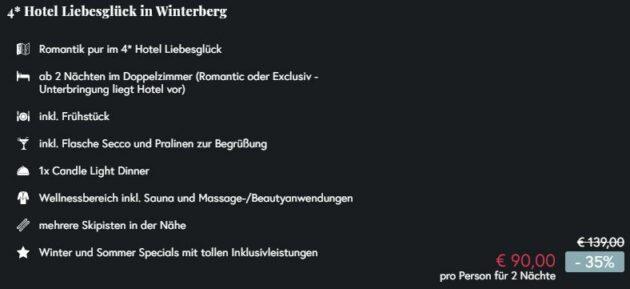 Screenshot 2 Tage Hotel Winterberg