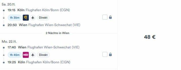 3 Tage Wien Flug