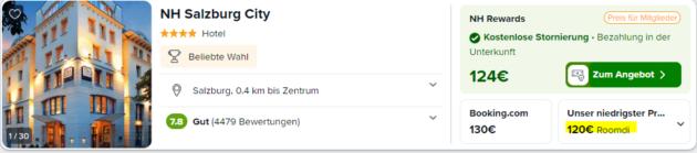 Screenshot 2 Tage Salzburg