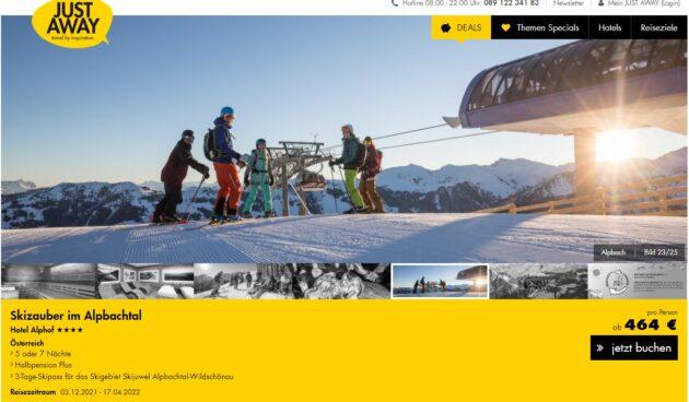 Screenshot: 6 Tage Alpbach Hotel